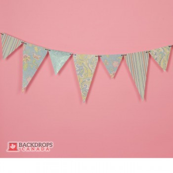 Pink Flower Banner Photography Backdrop