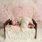 Chantilly Lace with newborn