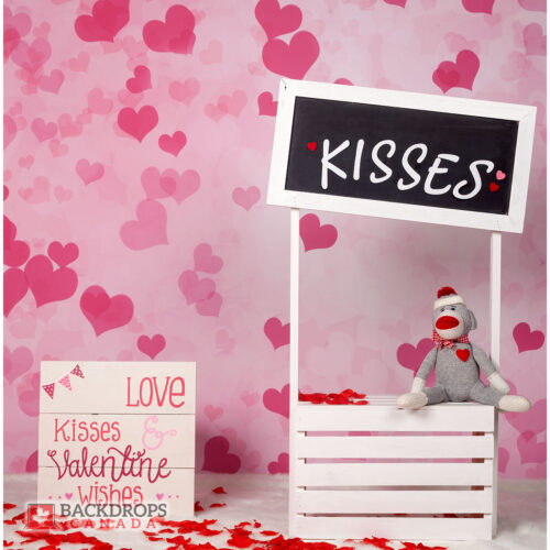 Kisses Booth Photography Backdrop