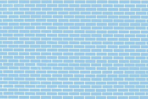 Blue Brick Wall Photography Backdrop