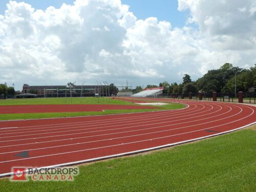 Track and Field Stadium Photography Backdrop