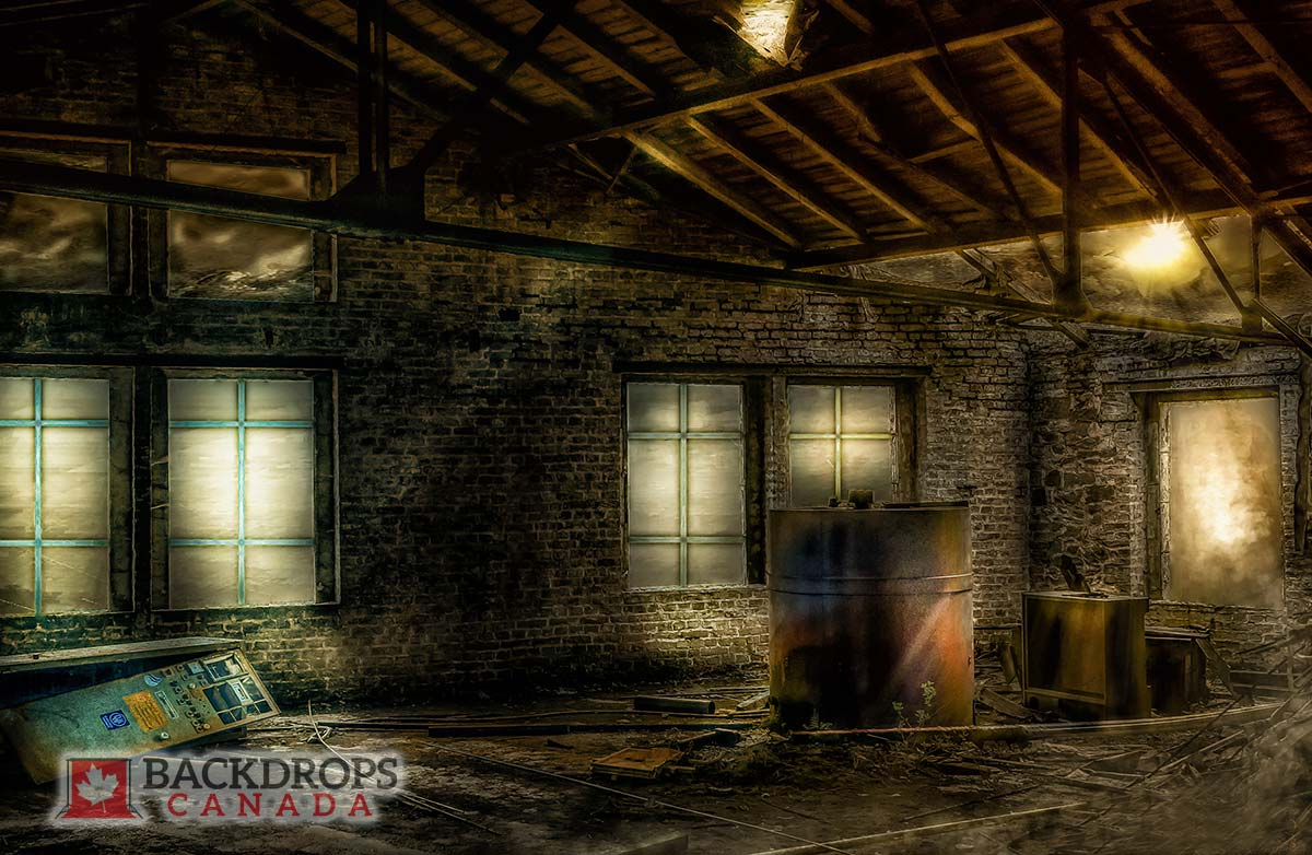 Abandoned Warehouse Photography Backdrop