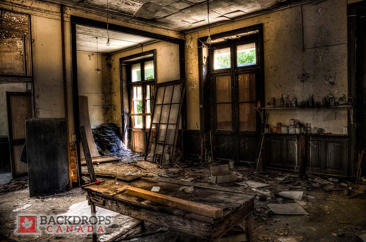 Abandoned Warehouse Photography Backdrop