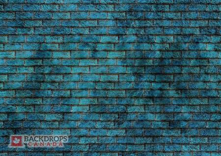 Blue Brick Wall Photography Backdrop