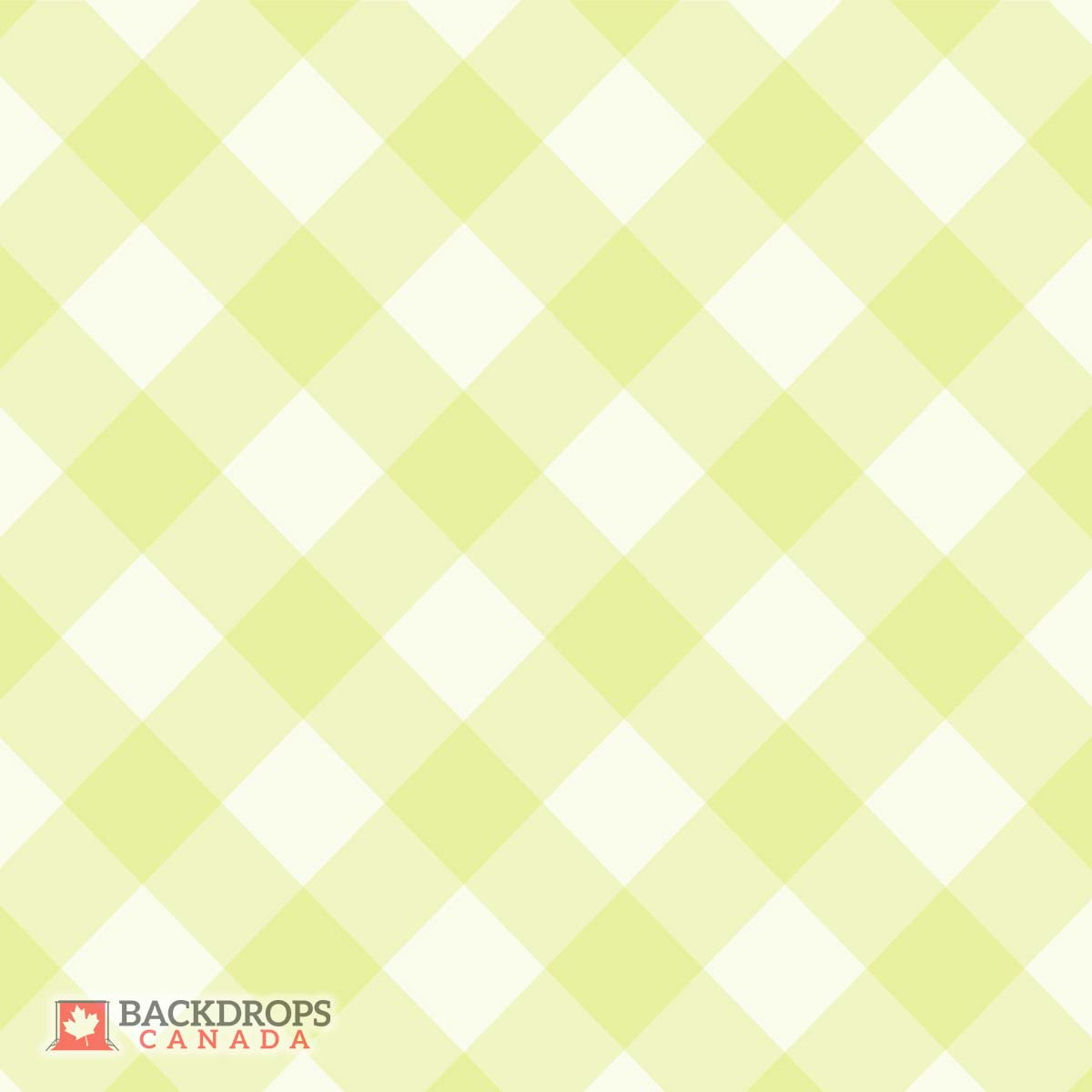 Green Plaid Photography Backdrop