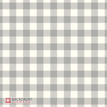 Grey Plaid Photography Backdrop