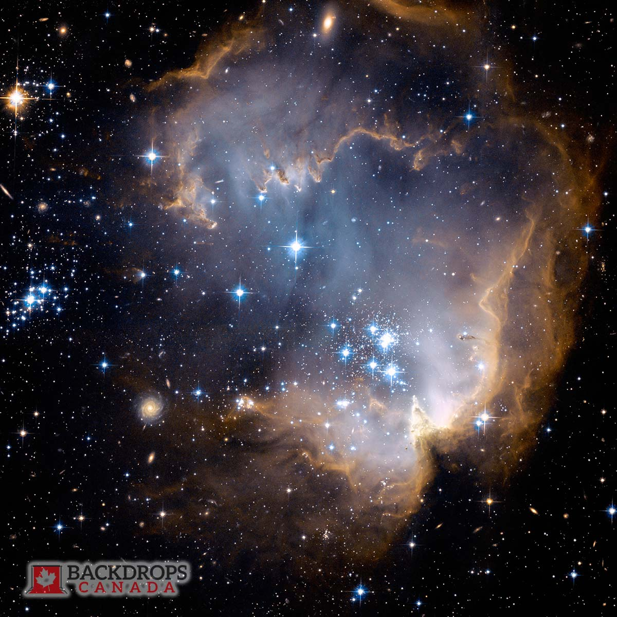 Galaxy Space Photography Backdrop
