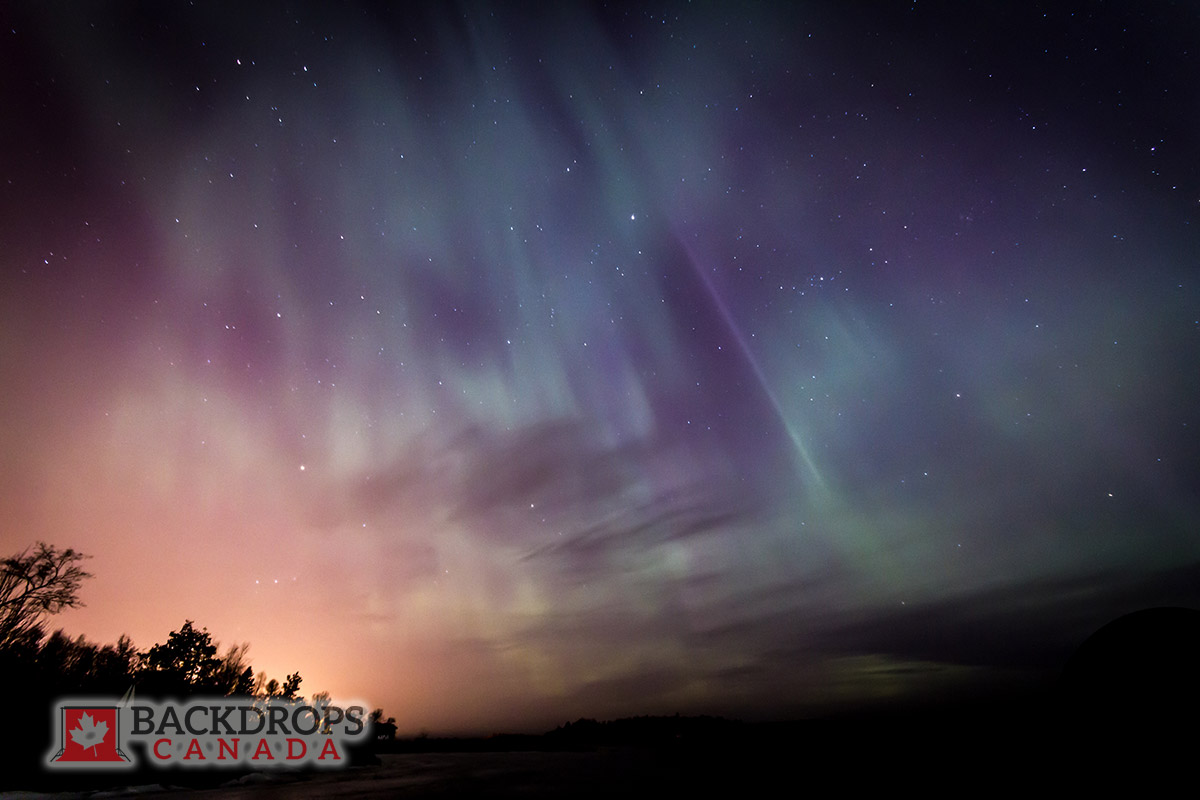 Northern Lights Photography Backdrop
