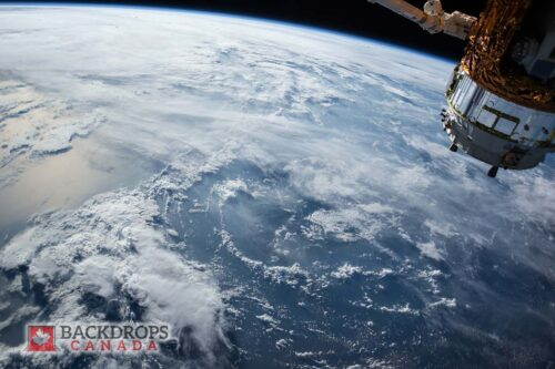 Orbiting Earth Space Photography Backdrop