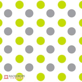 Polka Dots Green & Grey