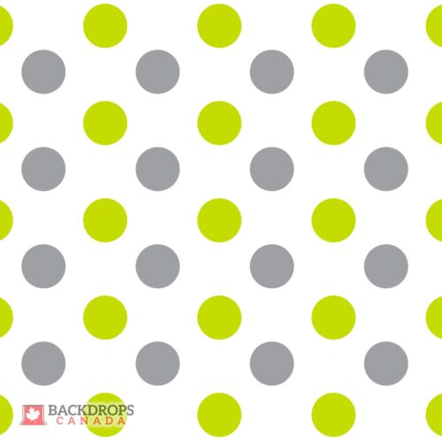 Grey & Green Polka Dot Photography Backdrop