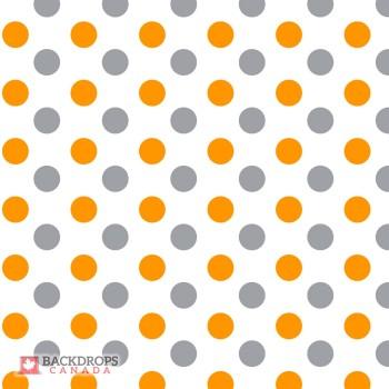 Polka Dot Orange & Grey