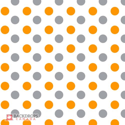 Polka Dot Orange & Grey Photography Backdrop