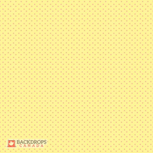 Yellow Polka Dot Photography Backdrop