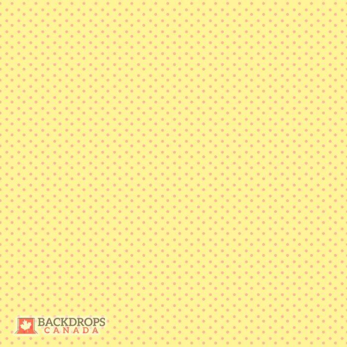 Yellow Polka Dot Photography Backdrop