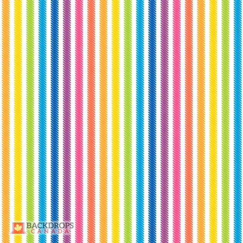 Rainbow Stripes Photography Backdrop