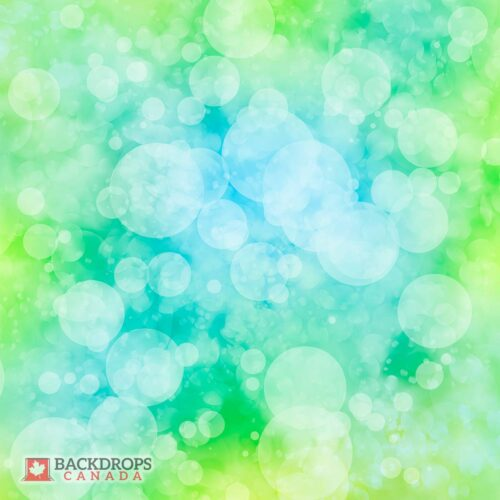 Blue & Green Bokeh Photography Backdrop