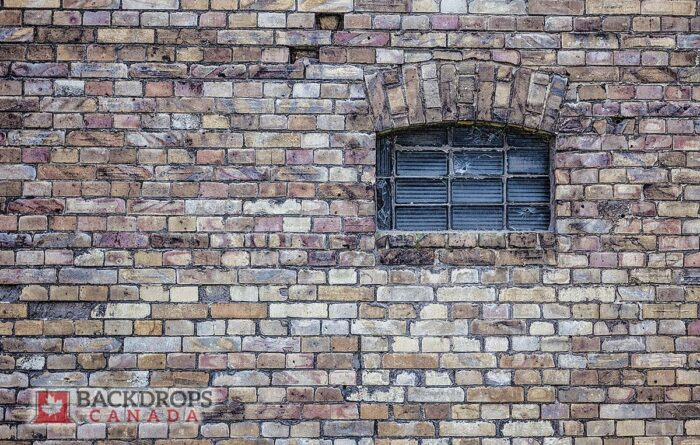 Brick Wall with Window Photography Backdrop