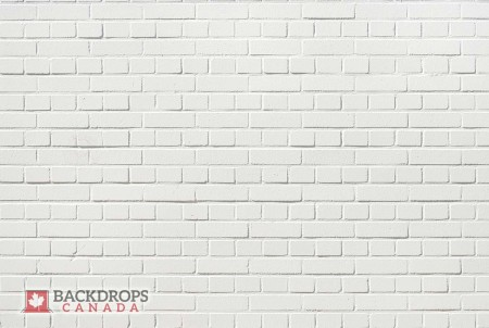White Brick Wall Photography Backdrop