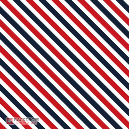 Red & Blue Barber Stripes Photography Backdrop