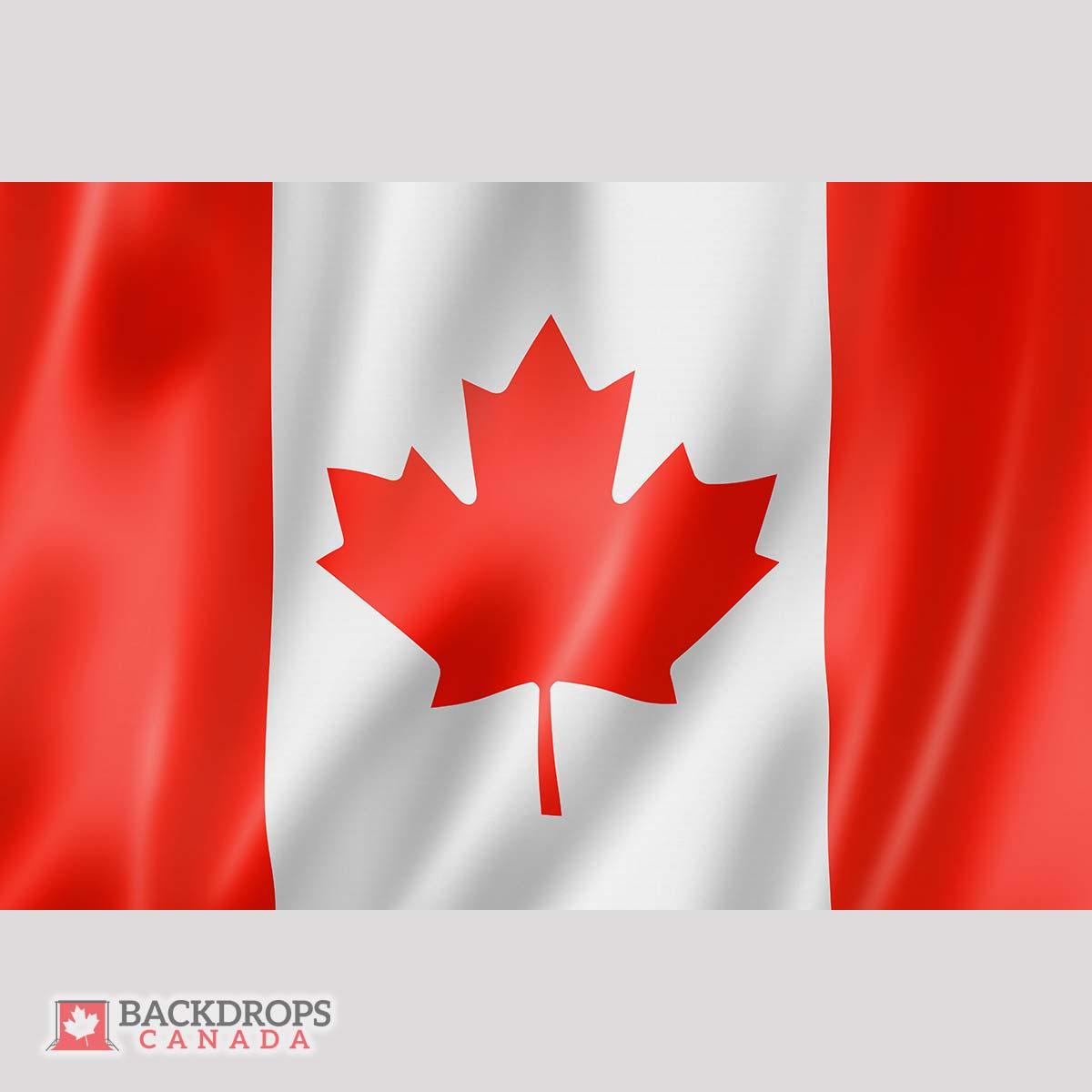 Canada Flag Waving ~ Backdrops Canada