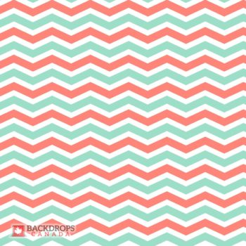 Coral Mint Chevrons