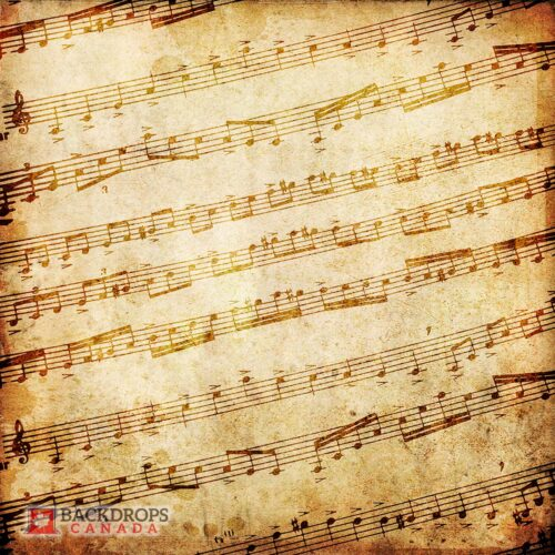 Vintage Music Sheet Photography Backdrop