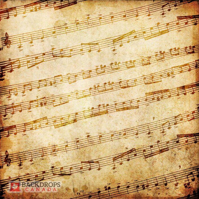 Vintage Music Sheet Photography Backdrop