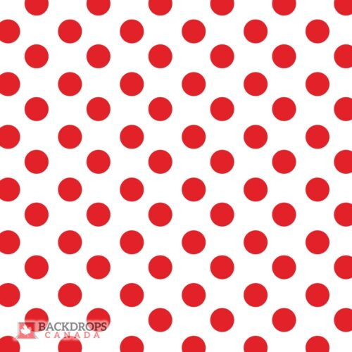 Red Polka Dot Photography Backdrop