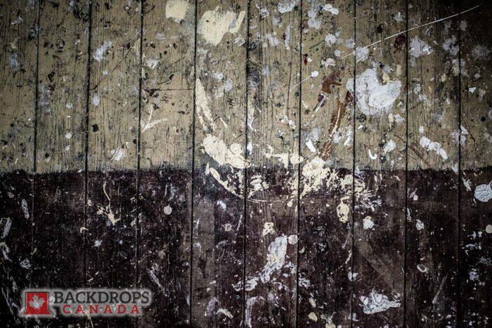 Two Toned Brown & Beige Wooden Floordrop