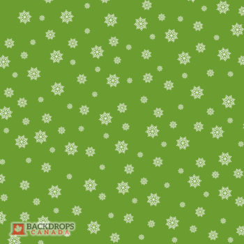 Falling Snowflakes on Green