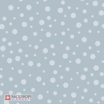 Falling Snowflakes on Icy Blue