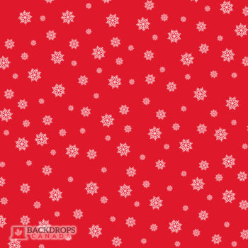 Falling Snowflakes on Red