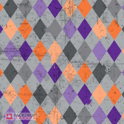 Grunge Halloween Pattern Photography Backdrop
