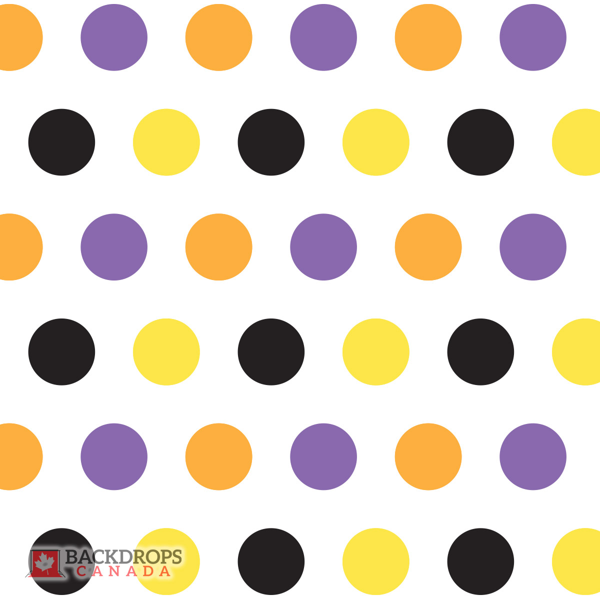 Halloween Polka Dot Photography Backdrop