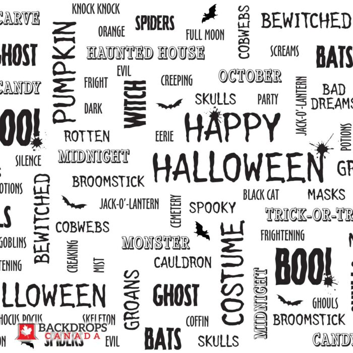 Halloween Word Cloud Photography Backdrop
