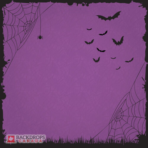 Halloween Purple Photography Backdrop