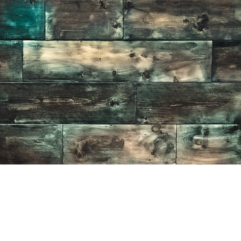Two Tone Teal Wooden Boards
