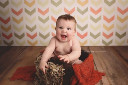 Baby Photo Shoot with Backdrop