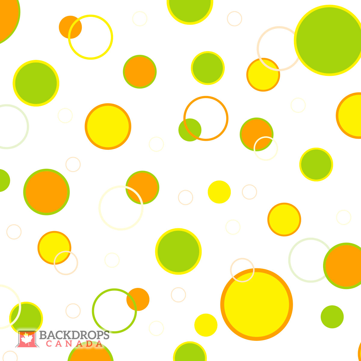 Yellow, Orange & Green Circles Photography Backdrop