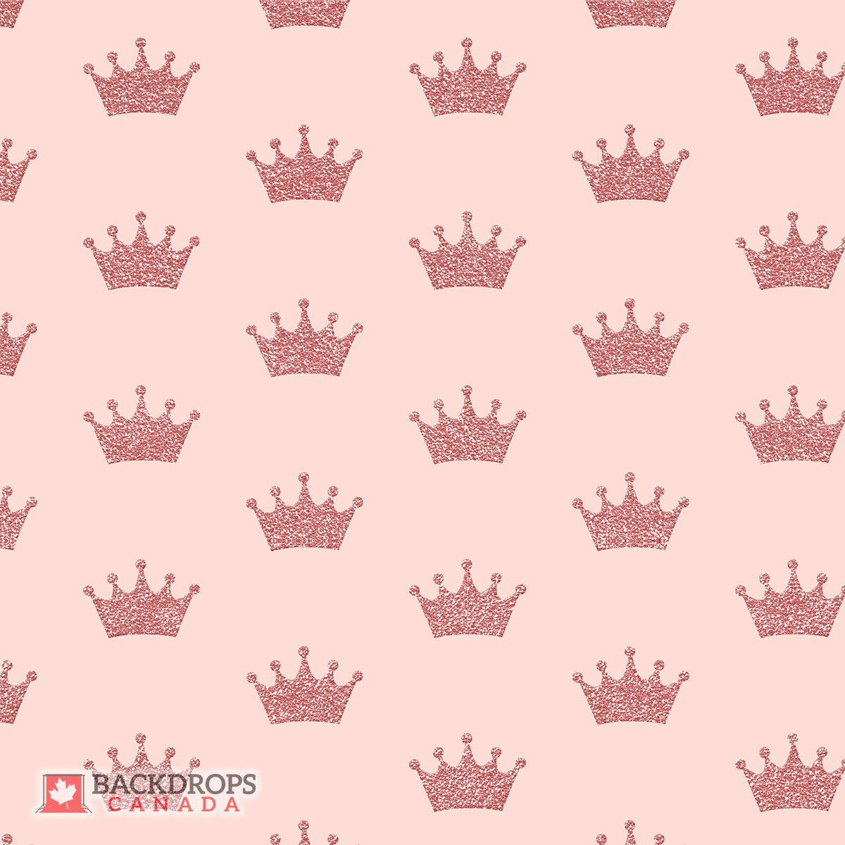 Pink Glitter Crowns Photography Backdrop