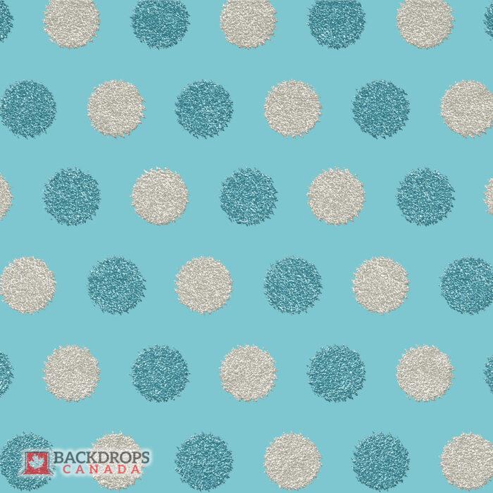 Blue & Grey Glitter Circles Photography Backdrop