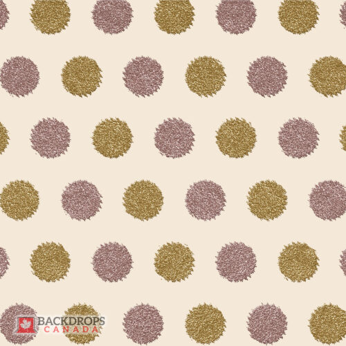 Pink & Gold Glitter Circles Photography Backdrop