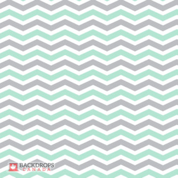 Grey Mint Chevron Photography Backdrop