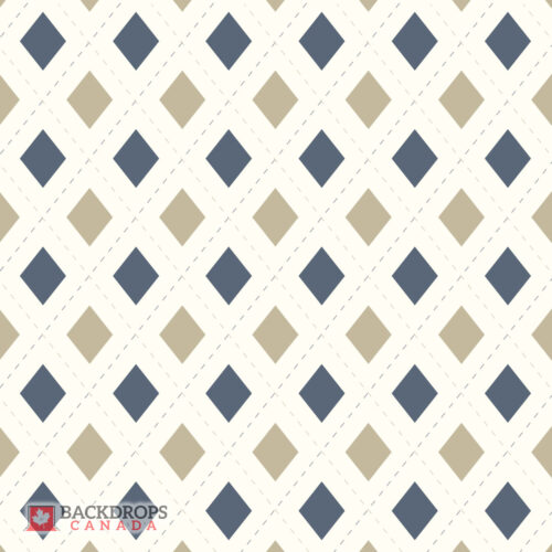 Blue & Beige Argyle Photography Backdrop
