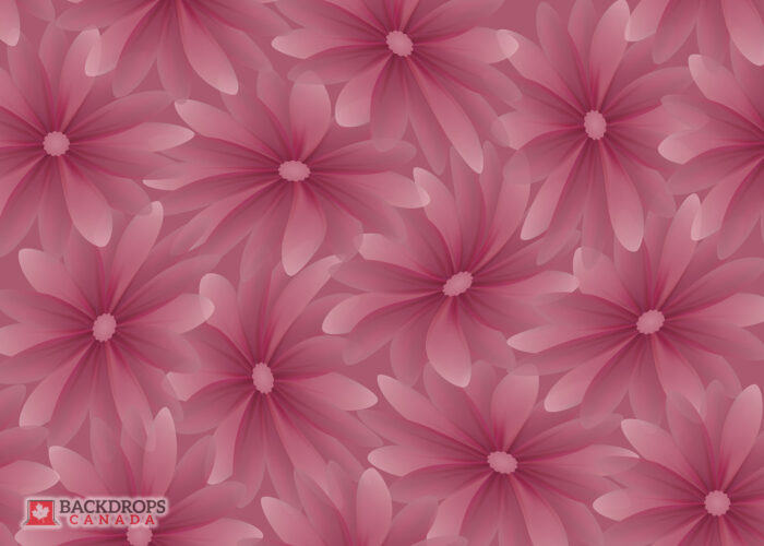 Pink Flower Photography Backdrop