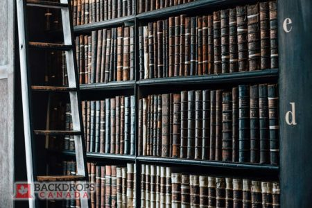 Vintage Library Photography Backdrop