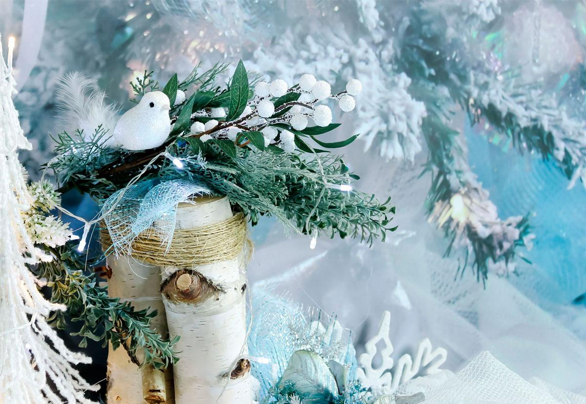Blue Sparkle Winter Photography Backdrop