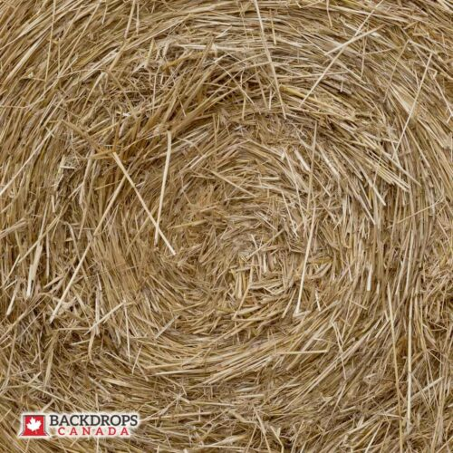Bale of Hay Close Up Photography Backdrop