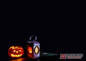 Halloween Lantern with Jack o' Lantern Photography Backdrop